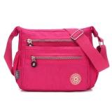 Harga Wanita Streets Style Tas Bahu Nilon Klasik Cross Body Bag Rose Red Branded