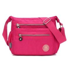 Dimana Beli Wanita Streets Style Tas Bahu Nilon Klasik Cross Body Bag Rose Red Oem