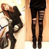 Spesifikasi Womens Stylish Ripped Holes S*xy Leggings Punk Hole Ripped Slit Split Leggings Party Gothic Pants Black Intl Oem