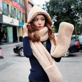 Women S Winter Fleece Scarf Set 3 In 1 Scarf Hat And Gloves Set Intl Tiongkok Diskon