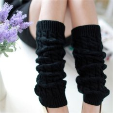 Jual Beli Womens Winter Knit Crochet Rajutan Leg Warmers Legging Boot Cover Fashion Hitam Baru Tiongkok