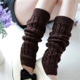 Beli Womens Winter Knit Crochet Rajutan Leg Warmers Legging Boot Cover Fashion Coffee Intl Cicilan