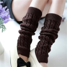 Harga Womens Winter Knit Crochet Rajutan Leg Warmers Legging Boot Cover Fashion Coffee Intl Oem Online