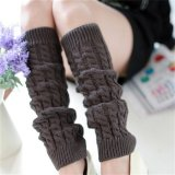 Toko Womens Winter Knit Crochet Rajutan Leg Warmers Legging Boot Cover Fashion Dark Grey Terdekat