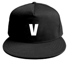Wonderful Power 1 Piece BTS Letter Snapback Cap New Fashion Adjustable Baseball Cap Sports Sun Hat Casquette Hat Casual (Color: Black and Red)-Black-JIN - intl