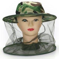 Di Seluruh Dunia Midge Nyamuk Serangga Hat Bug Mesh Kepala Net Face Protector Perjalanan Berkemah-Internasional