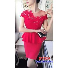 wow keren _ Dress mini / dress brukat mini/ dress pesta / Dress brukat /Stelan baju 6102