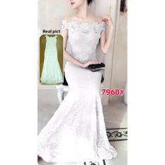 Wow keren - Baju Import / Dress long import / Dres panjang brukat / Gaun import  7960