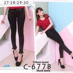 Wow keren-  Celana Jeans panjang / Celana jeans cewek / Celana jeans wanita / Celana ljaggig / celana C677B
