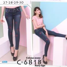 Wow keren-  Celana Jeans panjang / Celana jeans cewek / Celana jeans wanita / Celana ljaggig / celana C681 B