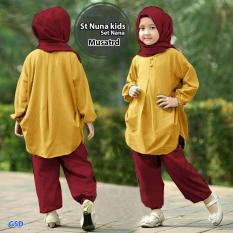Wow Keren - Stelan Baju Anak / Baju Anak Cewek / Baju Anak Anak/ Baju Muslim Anak / Baju Anak Muslim / Stelan Jilbab Nana By Wowkeren.