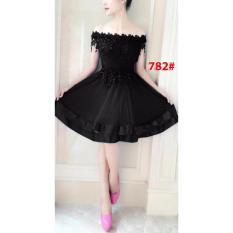 Wowkeren - 782 Dress mini/ dress brukat/ dress import/ dress sabrina cantik