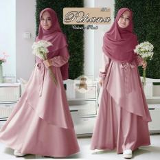 Wowkeren _ Busana Muslim/Maxi gamis muslim/Baju syarii / maxi dress Rihana