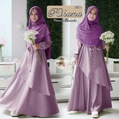 Beli Wowkeren Busana Muslim Maxi Gamis Muslim Baju Syarii Maxi Dress Rihana Baru