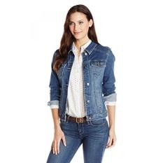 Wrangler Authentics Womens Denim Jacket, Weathered, - intl