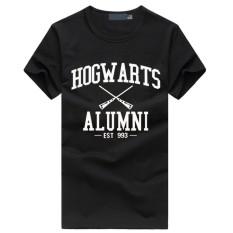 WuXinSu Hogwarts Terinspirasi Siswa Magic Pendek T-Shirt untuk Mens American Apparel Kaos Lucu Hitam-Intl