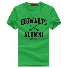 WuXinSu Hogwarts Terinspirasi Siswa Magic Pendek T-Shirt untuk Mens American Apparel Kaos Lucu Hijau-Intl