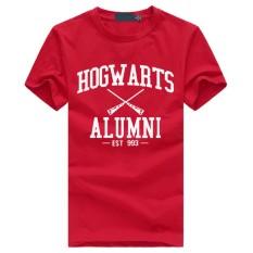 WuXinSu Hogwarts Terinspirasi Siswa Magic Pendek T-Shirt untuk Mens American Apparel Kaos Lucu Merah-Intl