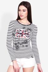 X8 Pakaian Atasan T-Shirt Kaos Wanita Claire Knit Top Mix Diskon discount murah bazaar baju celana fashion brand branded