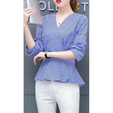 Xavier Blouse Kimono / Kemeja Blouse Lengan 3/4 / Blouse Kotak Polos Cewek / Hem Kemeja Baju Wanita Fashion Bangkok / Blus Korean Style / Blouse Wanita Modern