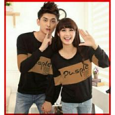 xavier couple T-shirt pusple hitam cream Baju Couple  / Kaos Oblong / Kaos Pasangan / Kaos Couple / Pakaian Kembar / Baju Muslim Wanita / Baju Muslim Pria / Couple / Kaos Oblong / Cotton Combed Pasangan