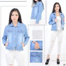 Xavier Jaket Clarissa Jeans [BEST SELLER]  Jaket Denim jins Oversize / Jacket Jeans Wanita Premium / Bomber Parka (loech ingefr)