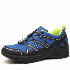 XIANG GUAN Bernapas Pria Menjalankan Olahraga Sepatu Sneakers-Biru-Intl