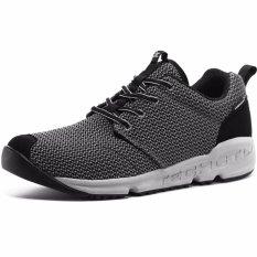 XIANG GUAN Menjalankan Sepatu Bernapas Unisex Outdoor Sports Cross Country Walking Jogging Sneakers-Abu-abu Gelap-Intl