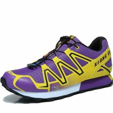 XIANG GUAN Menjalankan Sepatu Pria Outdoor Sneakers Sepatu Olahraga Berjalan Sepatu Jogging Sepatu Trendi-Ungu-Intl