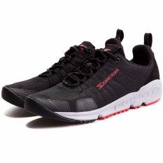 XIANG GUAN Trail Running Sepatu Bernapas Ringan Olahraga Sneakers-Hitam/Merah-Intl