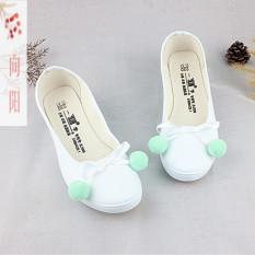 Xiang Yang Bola Yang Dilukis With Tangan Asli Sepatu Kain (Salju Pompon  Datar Bedak   f121037824