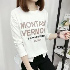 Jual Cepat Xianyafu Korea Fashion Style Produk Baru Ukuran Besar Leher Bulat Atasan Katun Kaos Putih