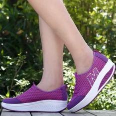 Jual Xin Bo Karet Dan Mesh Bernapas Outdoor Menjalankan Sepatu Ungu Branded