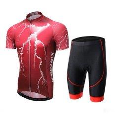 Spesifikasi Xintown Pria Bersepeda Jersey Celana Pendek Set Poliester Lycra Cepat Kering Kantong Gel Empuk Lengan Pendek Intl Beserta Harganya