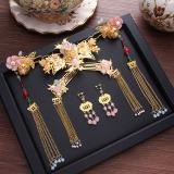 Harga Xiu Pakaian Bergaya Cina Mempelai Wanita Coronet Gaun Naga Dan Phoenix Asesoris Kepala Set Oem Tiongkok