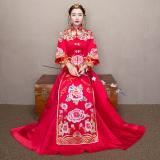 Jual Xiu Pakaian Bergaya Cina Merah Baru Mempelai Wanita Pengantin Gaun Pengantin Merah Baju Wanita Dress Wanita Gaun Wanita Tiongkok Murah