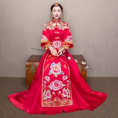 Harga Xiu Pakaian Bergaya Cina Merah Baru Mempelai Wanita Pengantin Gaun Pengantin Merah Baju Wanita Dress Wanita Gaun Wanita Terbaik