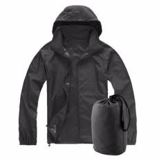 Jual Xs 3Xl Pria Wanita Tahan Terhadap Udara Jaket Tahan Angin Kolam Sepeda Olahraga Mantel Hujan Hitam Lengkap
