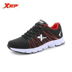 Harga Xtep 2015 Gugur Musim Panas Sneaker Traveling Mens Menjalankan Sepatu Olahraga Atletik Sepatu Olahraga Hitam Merah Intl Xtep Baru