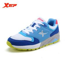 Jual Xtep 2015 Sepatu Lari Untuk Wanita China Topi Musim Gugur Outdoor Sneaker Traveling Pelatih Atletik Olahraga Sepatu Biru Hijau Xtep Asli