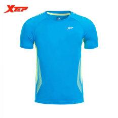 Xtep Merek Pria Cepat Kering Sport T Shirt Pria Outdoors Menjalankan T Shirt Kebugaran Tops Leher O Lengan Pendek Sport Bersumpah Biru Hijau Intl Tiongkok Diskon