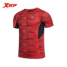 Beli Xtep Baru Fashion Mens Rajutan Lengan Pendek Baju Lari Kasual Outdoor Indoor Shirt Intl