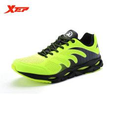 XTEP Brand Professional Sepatu Lari Pria Olahraga Sepatu 2016 Redaman Sepatu Lari Trail Athletic Mens Sneaker Lebar (hijau)-Intl