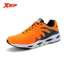 XTEP Brand Professional Sepatu Lari Pria Olahraga Sepatu 2016 Redaman Sepatu Lari Trail Athletic Mens Sneaker Lebar (Orange)-Intl