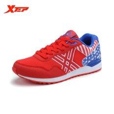 Beli Xtep Merek Menjalankan Olahraga Sepatu Pria Bernapas Sneaker Atletik Merah Intl Secara Angsuran