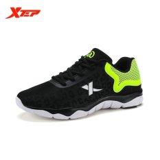 Jual Xtep Bernapas Pria Menjalankan Olahraga Sepatu Sneakers Hitam Intl Xtep