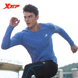 Jual Xtep Long Sleeve Running T Shirt For Men Compression Fitness Quick Dry Shirt Bodybulding Breathable Sports Jerseys Blue Intl Grosir