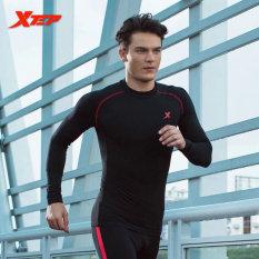 Berapa Harga Xtep Panjang Lengan Kaus Lari Untuk Pria O Neck Bernapas Cepat Kering Jersey Olahraga Kompresi Kebugaran Kemeja Pria Hitam Merah Intl Xtep Di Tiongkok