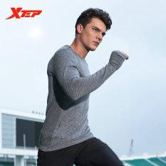 Ulasan Mengenai Xtep Panjang Lengan Kaus Lari Untuk Pria O Neck Bernapas Olahraga Kaus Cepat Kering Kompresi Kebugaran Kemeja Pria Gray Intl