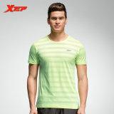 Spesifikasi Xtep Pria Menjalankan T Shirt Bernapas Latihan Kebugaran Kemeja Pria Green Xtep